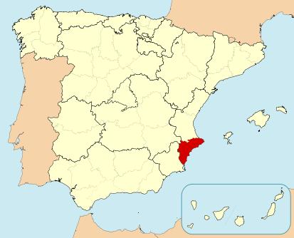 carte costa blanca Espagne