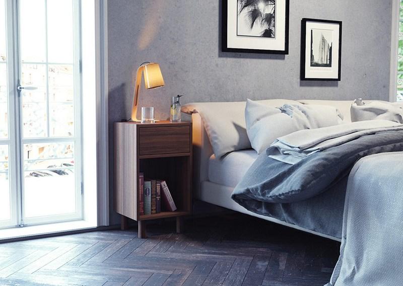 chambre déco mid-century