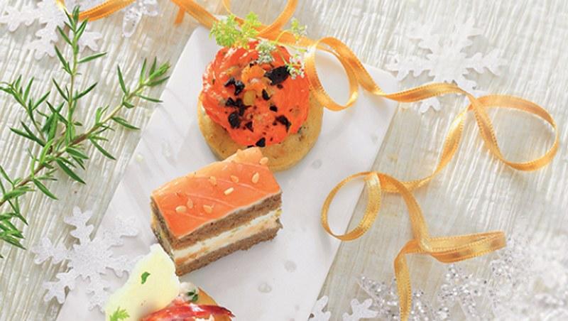 apéritif dînatoire au saumon Flunch Traiteur