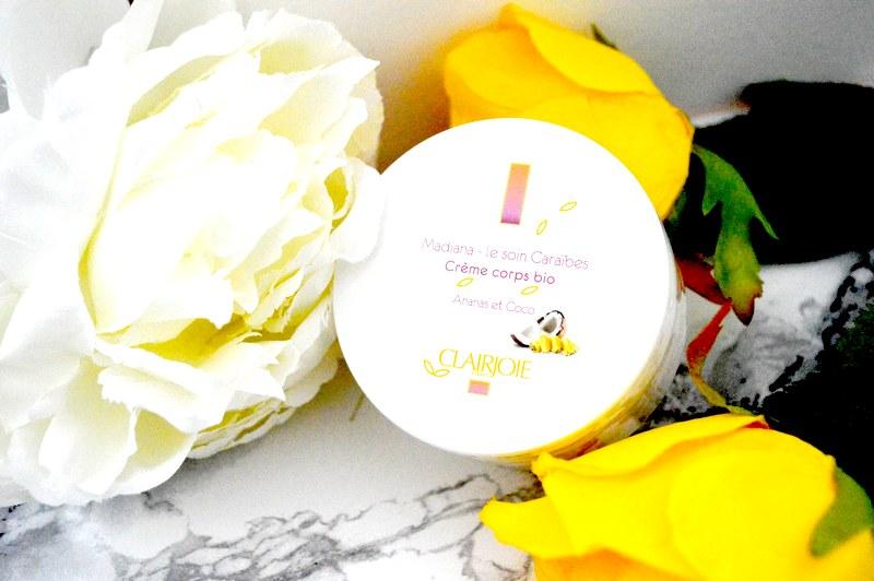 Coup de cœur pour la crème corps bio ananas coco Clairjoie