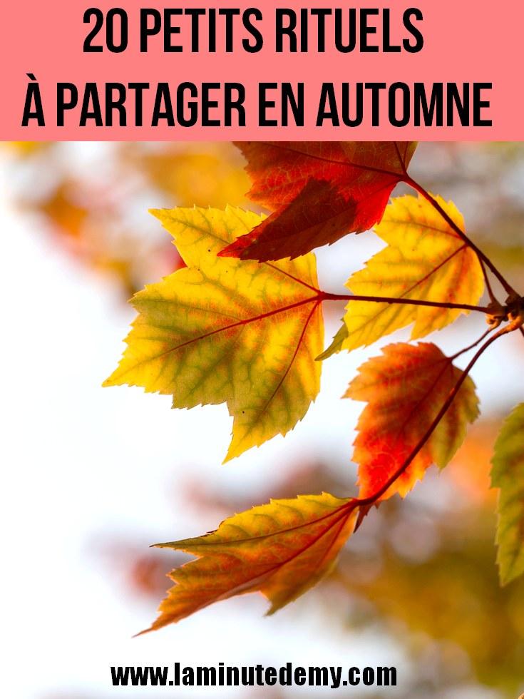 20 petits rituels à partager en automne