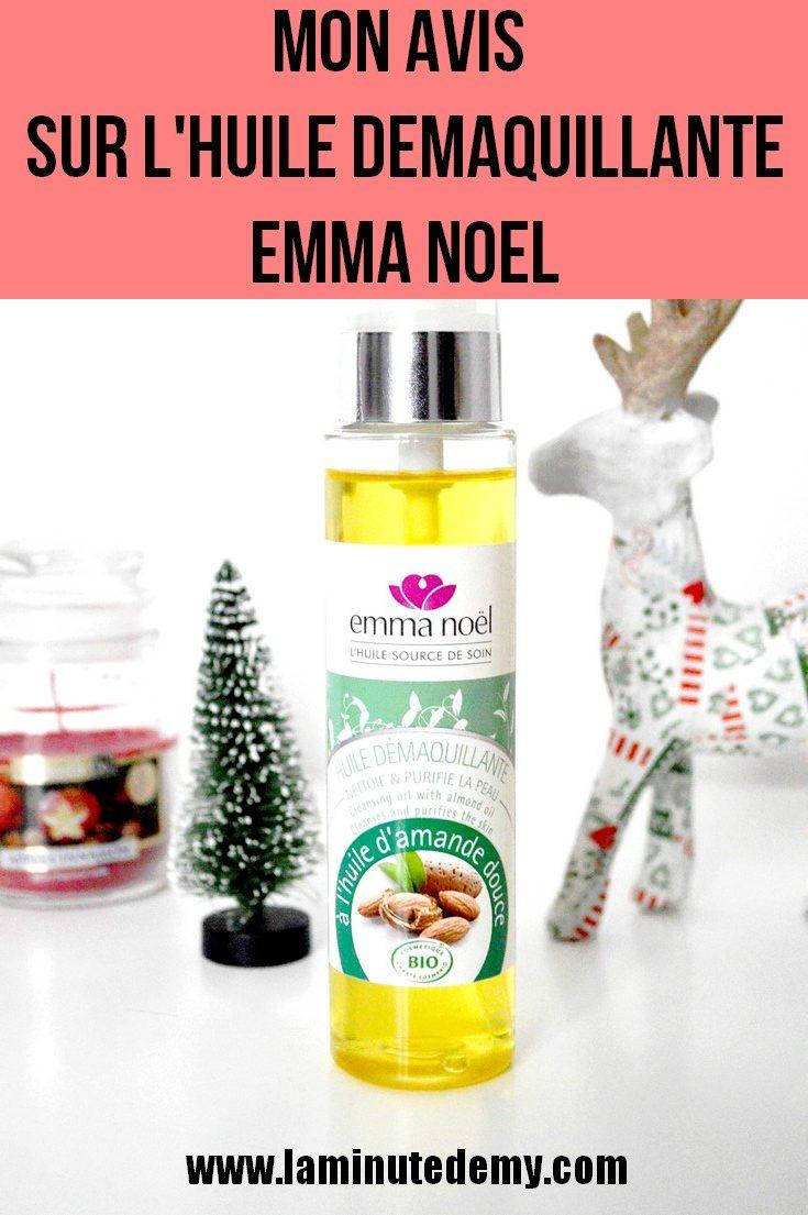 Mon avis sur l'huile démaquillante Emma Noël